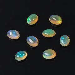 Кабошон опал благородный желтый Эфиопия 5*7 мм (1 шт)