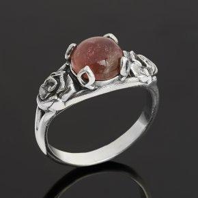Кольцо турмалин розовый (рубеллит) Бразилия (серебро 925 пр. оксидир.) размер 17,5