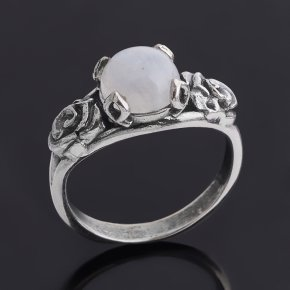 Кольцо лунный камень (адуляр) Индия (серебро 925 пр. оксидир.) размер 17
