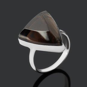 Кольцо обсидиан прозрачный Армения (нейзильбер) огранка размер 17,5