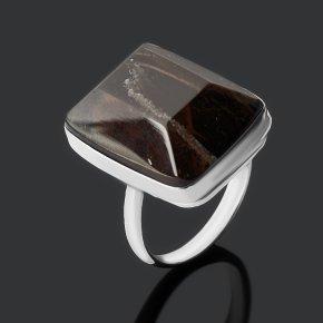 Кольцо обсидиан прозрачный Армения (нейзильбер) огранка размер 18