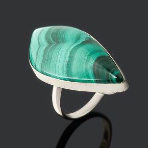Кольцо малахит (дублет) Конго (нейзильбер) размер 18