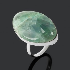 Кольцо флюорит зеленый Россия (нейзильбер) размер 17,5
