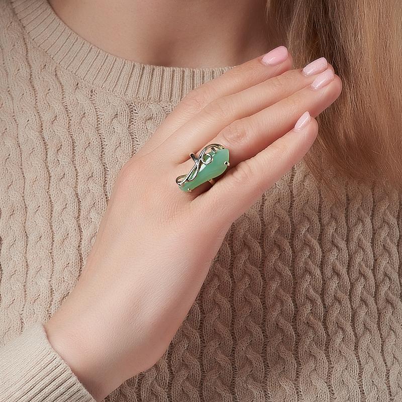 Кольцо хризопраз Казахстан (нейзильбер) размер 18,5