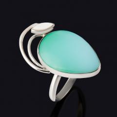 Кольцо хризопраз (дублет) Казахстан (нейзильбер) размер 18,5
