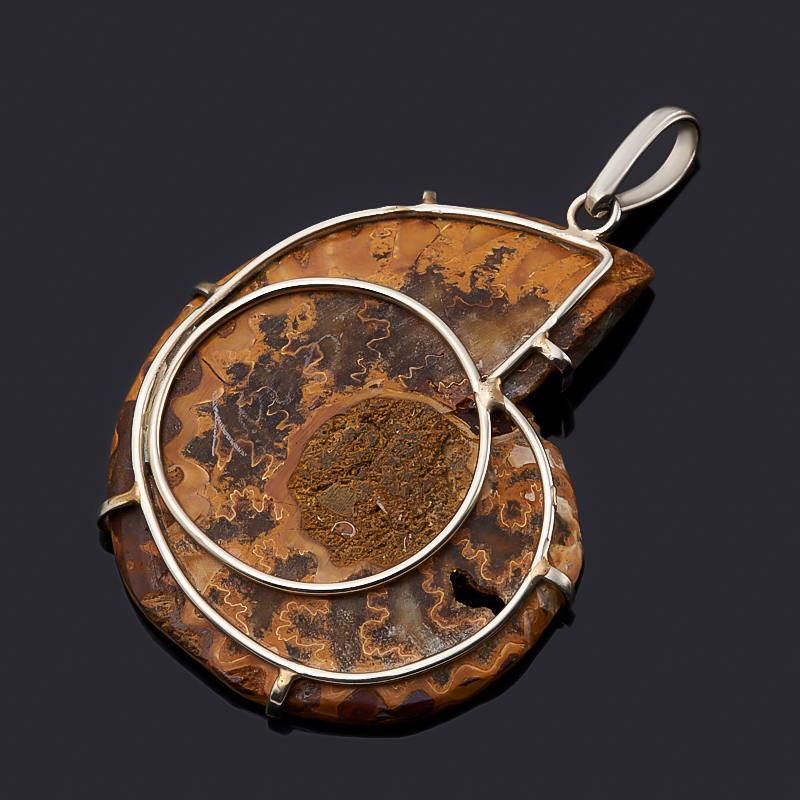 Кулон окаменелость Мадагаскар (нейзильбер)