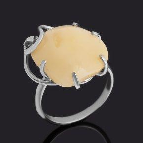 Кольцо янтарь Россия (нейзильбер) размер 18,5