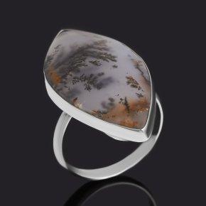 Кольцо агат пейзажный Казахстан (нейзильбер) размер 18,5