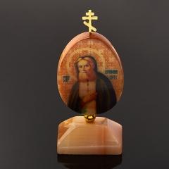 Изображение селенит Россия Серафим Саровский с молитвой 9,5 см