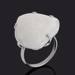 Кольцо агат белый (дублет) Россия (нейзильбер) размер 18,5