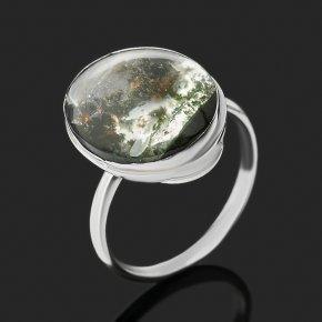 Кольцо кварц с хлоритом Казахстан (нейзильбер) размер 18,5