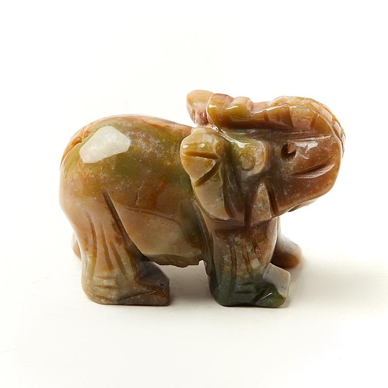 Слон агат моховой Индия 6 см