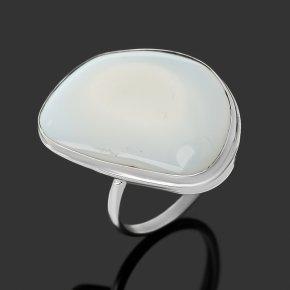 Кольцо кахолонг Россия (нейзильбер) размер 17,5