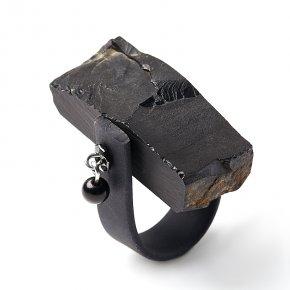 Кольцо гагат Грузия (биж. сплав, каучук) (регулируемый) размер 20