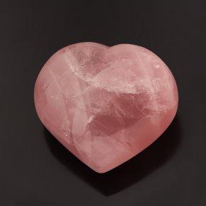 Сердечко розовый кварц Мадагаскар 6,5 см