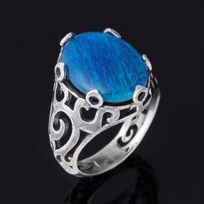 Кольцо опал благородный синий (триплет) Австралия (серебро 925 пр. оксидир.) размер 17,5
