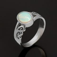 Кольцо опал благородный белый Эфиопия (серебро 925 пр.) размер 17,5