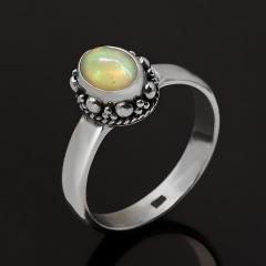 Кольцо опал благородный желтый Эфиопия (серебро 925 пр. оксидир.) размер 18,5