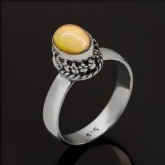 Кольцо опал благородный огненный Мексика (серебро 925 пр. оксидир.) размер 17,5