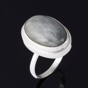 Кольцо кошачий глаз (кварцевый) ЮАР (серебро 925 пр.) размер 17,5