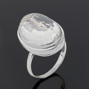 Кольцо горный хрусталь Бразилия (серебро 925 пр.) огранка размер 18,5