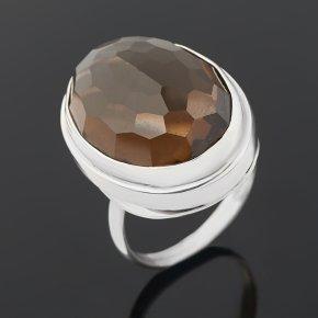 Кольцо раухтопаз Бразилия (серебро 925 пр.) огранка размер 17,5