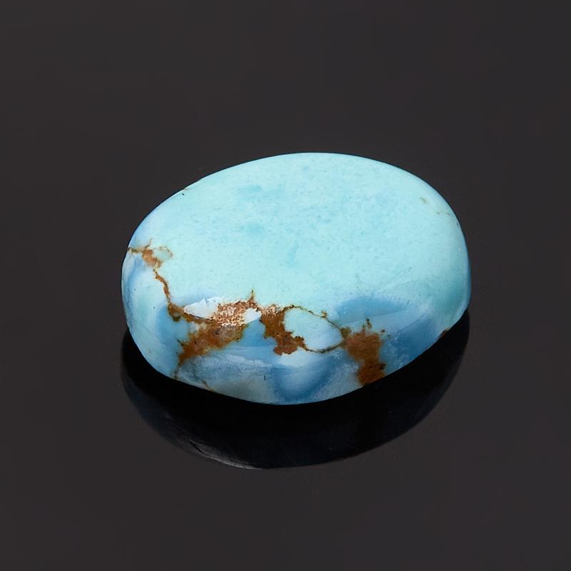 Кабошон бирюза Казахстан (1 шт) 10*12 мм