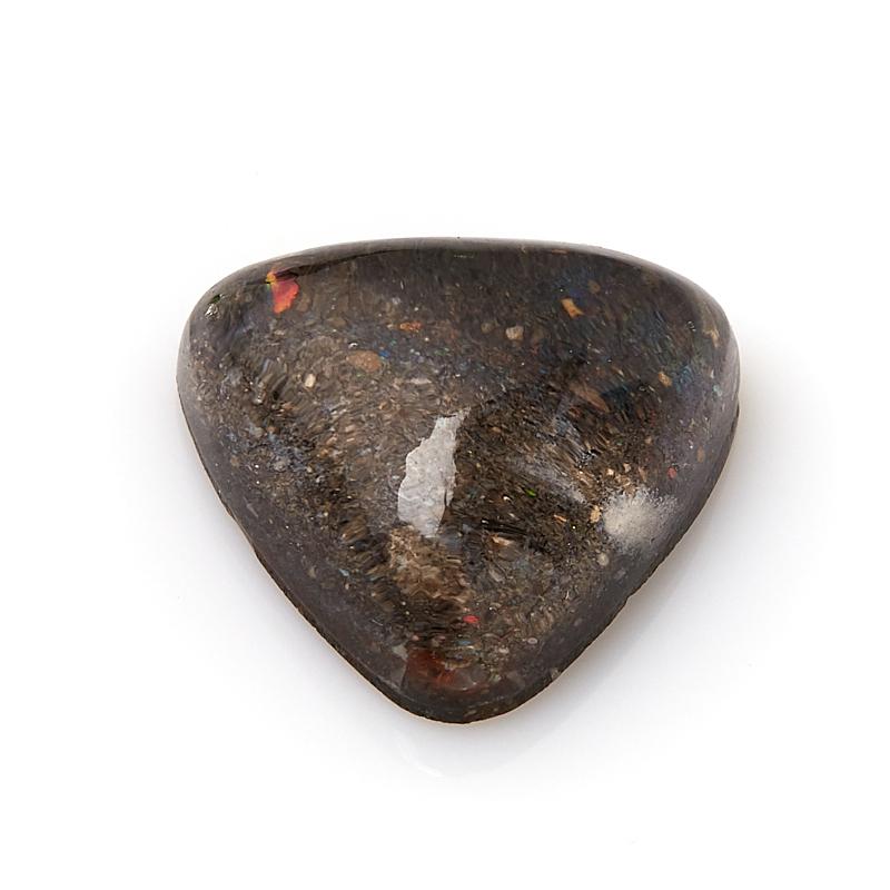 Кабошон опал благородный черный (дублет) Гондурас (1 шт) 17*17 мм
