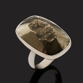 Кольцо пирит Перу (серебро 925 пр.) (регулируемый) размер 17