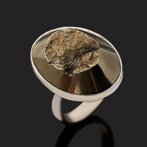 Кольцо пирит Перу (серебро 925 пр.) (регулируемый) размер 17,5