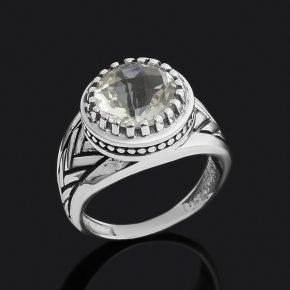 Кольцо празиолит Бразилия (серебро 925 пр. оксидир.) огранка размер 18