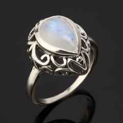 Кольцо лунный камень (адуляр) Индия (серебро 925 пр. оксидир.) размер 18,5