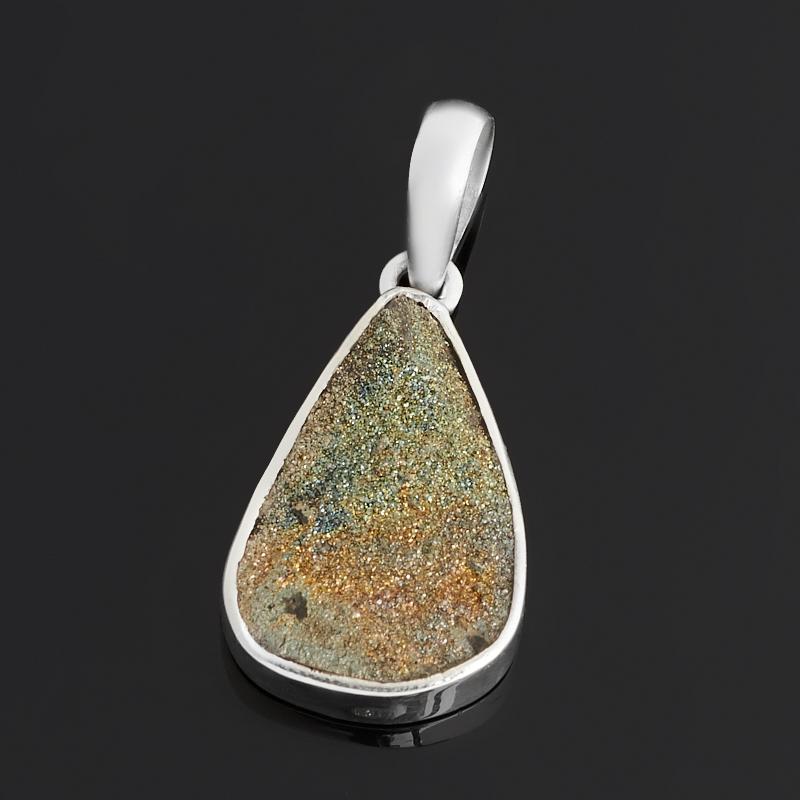 Кулон спектропирит  (серебро 925 пр.) капля