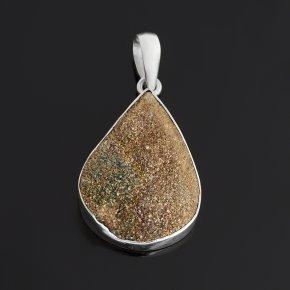Кулон спектропирит Россия (серебро 925 пр.) капля