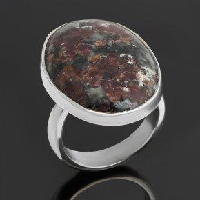 Кольцо эвдиалит Россия (серебро 925 пр.) (регулируемый) размер 18