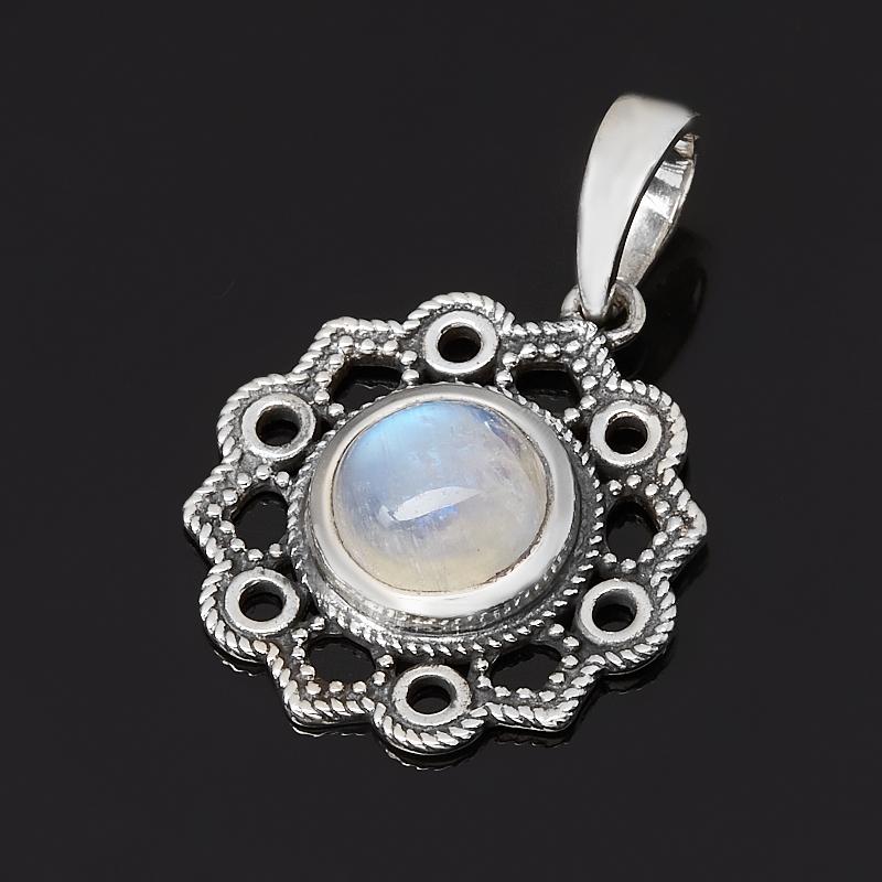 Фото - Кулон лунный камень (адуляр) (серебро 925 пр. оксидир.) кулон микс амазонит лунный камень серебро 925 пр