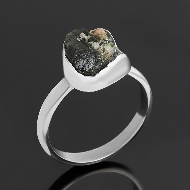 Кольцо турмалин голубой (индиголит)  (серебро 925 пр.) размер 18
