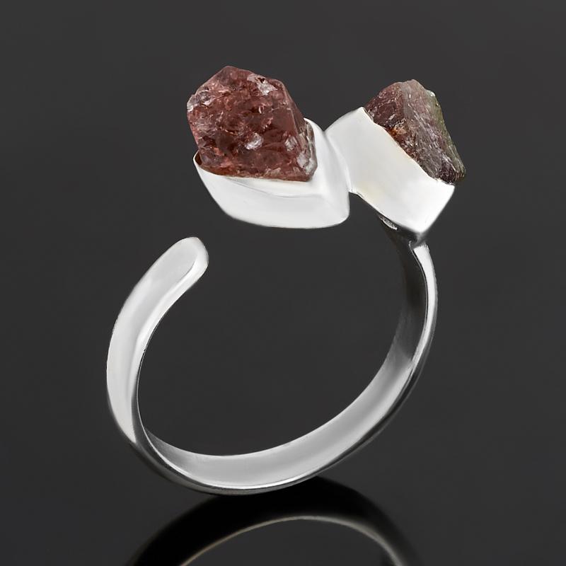 Кольцо турмалин розовый (рубеллит)  (серебро 925 пр.) (регулируемый) размер 18
