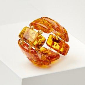 Кольцо янтарь Россия (регулируемый) размер 19