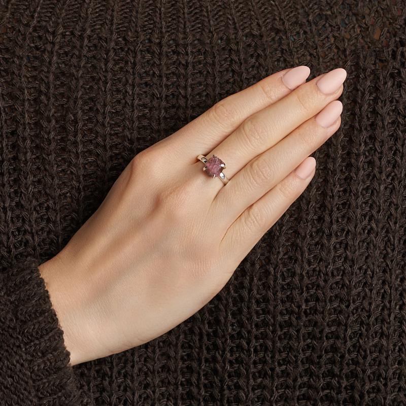 Кольцо турмалин розовый (рубеллит) Бразилия (серебро 925 пр.) размер 17,5