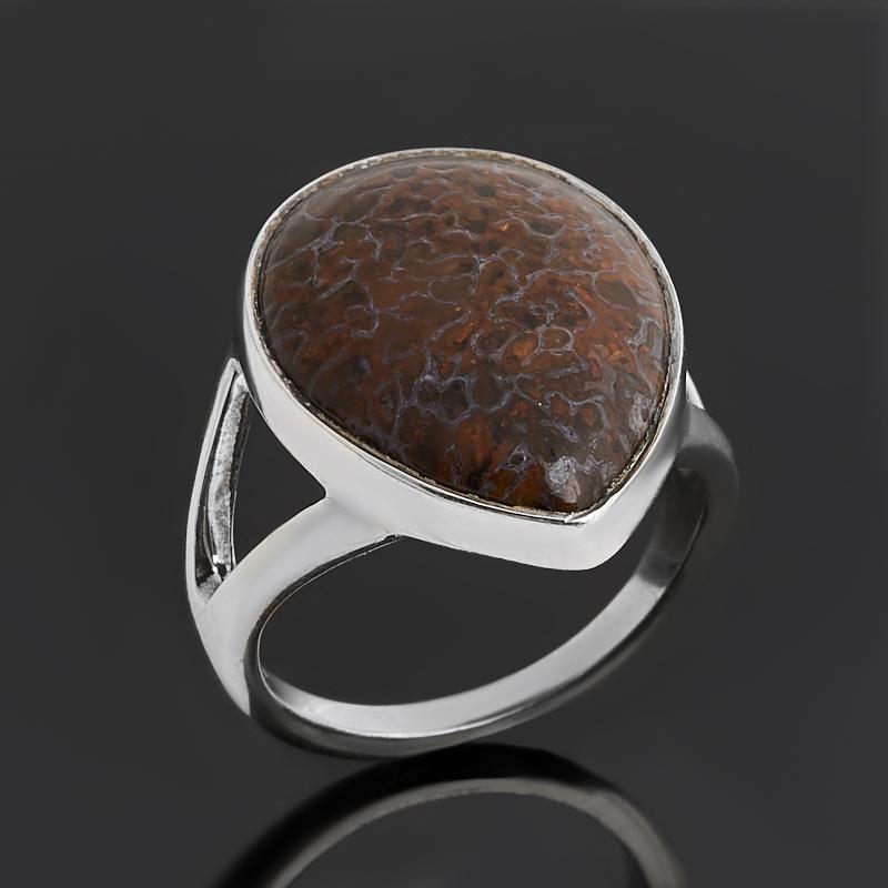 Кольцо опал в породе  (серебро 925 пр.) размер 17,5