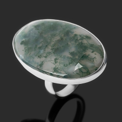 Кольцо агат моховой Индия (серебро 925 пр.) размер 17,5