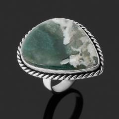 Кольцо агат моховой Индия (серебро 925 пр.) размер 17