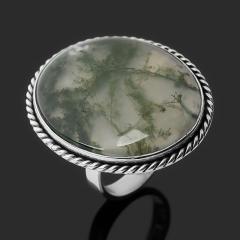 Кольцо агат моховой Индия (серебро 925 пр.) размер 19