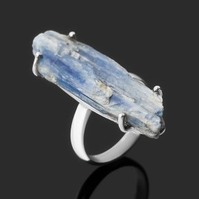 Кольцо кианит синий Бразилия (серебро 925 пр.) размер 18,5