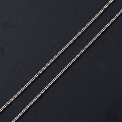 Цепь (серебро 925 пр. родир. бел.) полновесная панцирь 55 см Россия