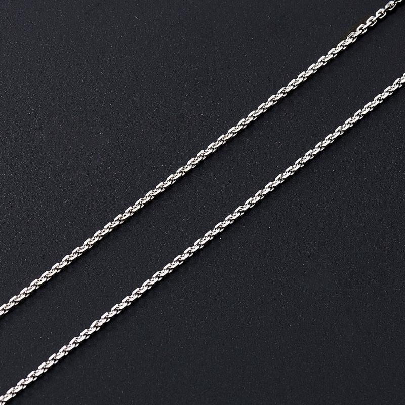 Цепь (серебро 925 пр. родир. бел.) полновесная якорь 70 см Россия