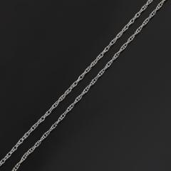 Цепь (серебро 925 пр. родир. бел.) полновесная форцатина 60 см Россия