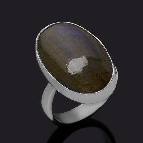 Кольцо лабрадор Мадагаскар (серебро 925 пр.) (регулируемый) размер 17,5