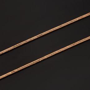 Цепь (серебро 925 пр. позолота) полновесная снейк 50 см Россия